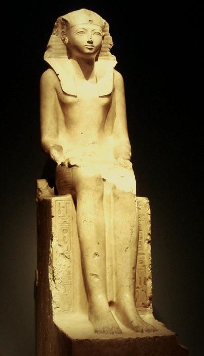 Statue d'Hatshepsout au musée d'histoire naturelle de londre