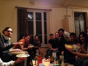 Petit repas avec l'équipe de Meet&Eat et celle du CQFD
