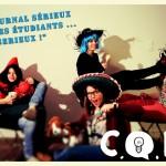 """Affiche pour la journée journal 21 Février 2014 : """"Un journal sérieux pour des étudiants... sérieux !"""""""