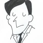 Caricature d'Alan Turing.