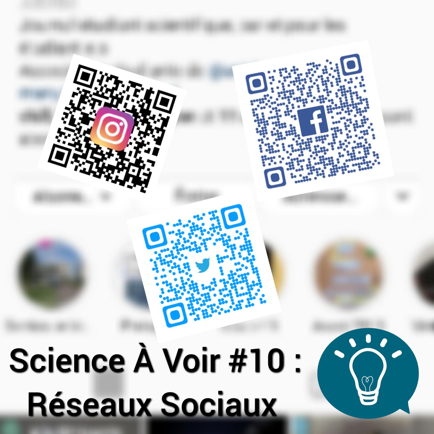 Science à voir épisode 10, season finale: Spécial réseaux sociaux
