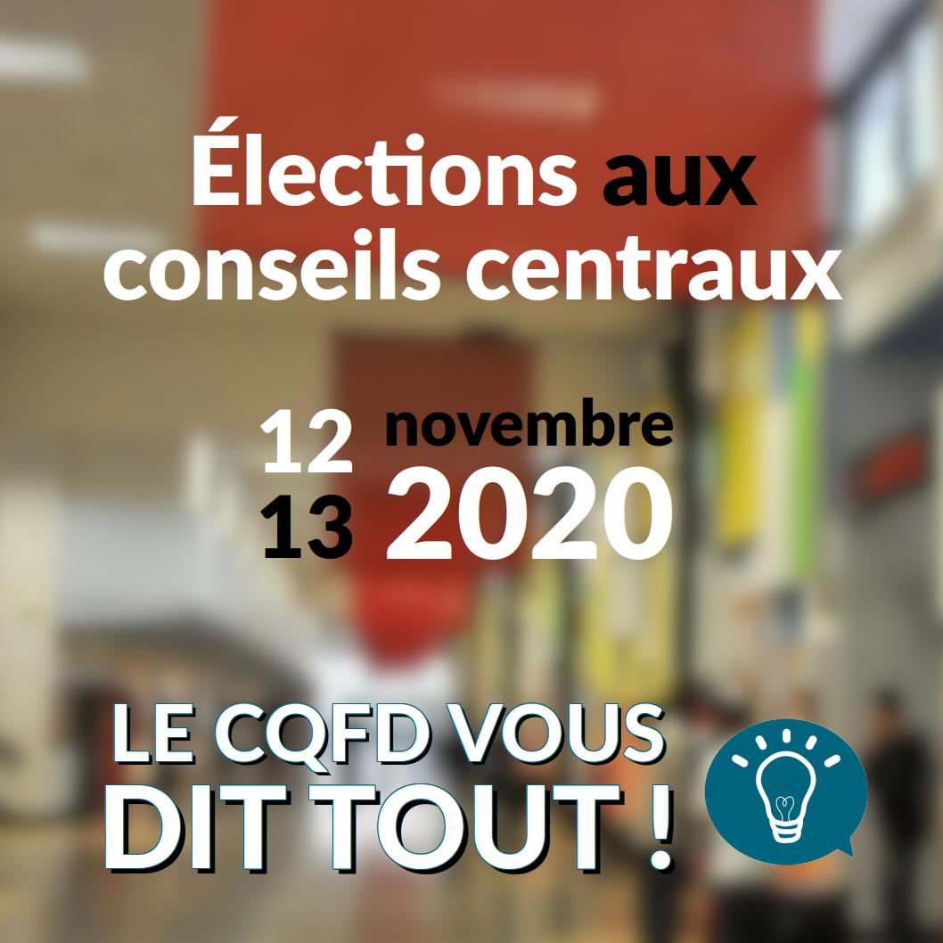 Les élections aux Conseils Centraux des 12 et 13 novembre 2020