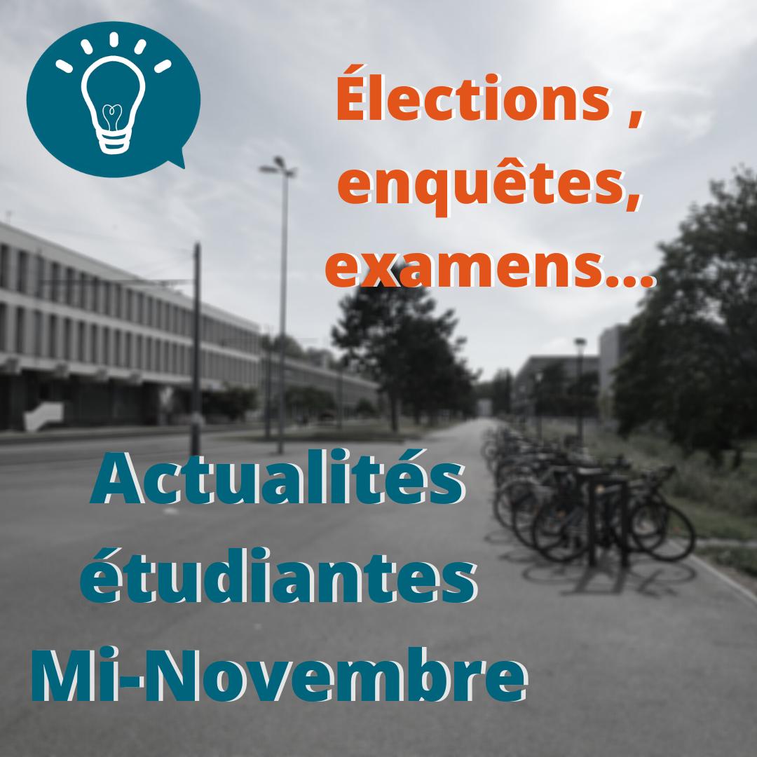 Actualités étudiantes de la semaine du 16 novembres